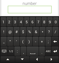 Input type number in mobile